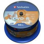 Диск DVD Verbatim 4.7Gb 16X CakeBox 50шт AZO Print Фото