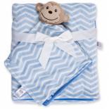 Одеяло Luvable Friends в комплекте с салфеткой для мальчиков Фото