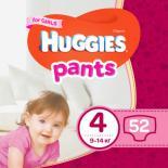 Подгузник Huggies Pants 4 для девочек (9-14 кг) 52 шт Фото