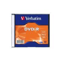 Диск DVD Verbatim 4.7Gb 16X SlimBox 1шт MatteSilv AZO Фото