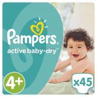 Подгузник Pampers Active Baby-Dry Maxi+ (9-16 кг), 45шт Фото