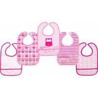 Слинявчик Luvable Friends 5 шт с узорами, розовый Фото