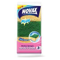 Губки кухонные Novax Maxi Foam Plus 3 шт Фото