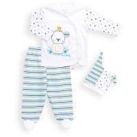 Набор детской одежды Miniworld с мишкой в коронке Фото
