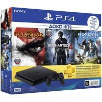 Игровая консоль SONY PlayStation 4 Slim 500 Gb Black (HZD+GOW3+UC4+PSPl Фото