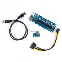 Райзер Vinga PCI-E x1 to 16x 60cm USB 3.0 Cable SATA to 6Pin Po Фото