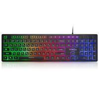 Клавіатура Vinga KB410 black Фото