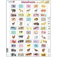 Пазл Larsen рамка-вкладыш Мемо Животные и их детеныши серия МА Фото