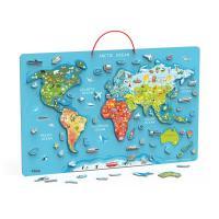 Пазл Viga Toys магнітний Карта світу з маркерной дошкою, англійсь Фото