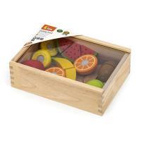 Игровой набор Viga Toys Нарезанные фрукты из дерева Фото