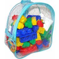 Конструктор Polesie Юниор, 100 элементов в рюкзаке Синий Фото