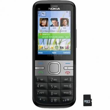 Мобільний телефон C5-00 Black Nokia (002T6Q9) - фото 1