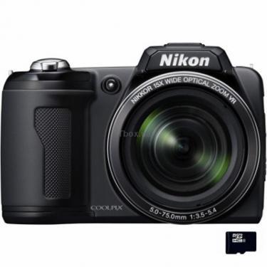 Цифровой фотоаппарат Coolpix L110 black Nikon (VMA600E6) - фото 1