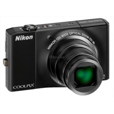 Цифровий фотоапарат Coolpix S8000 black Nikon (VMA511E1) - фото 1