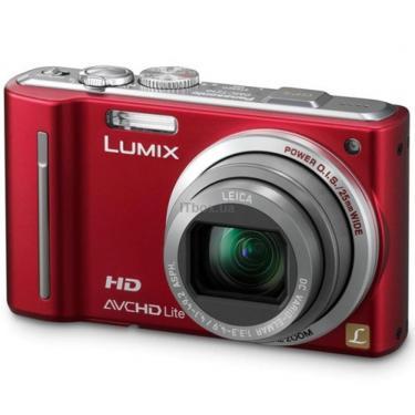 Цифровой фотоаппарат Lumix DMC-TZ10 red PANASONIC (DMC-TZ10EE-R) - фото 1