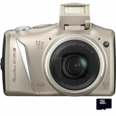 Цифровой фотоаппарат PowerShot SX130is silver Canon (# 4611B017) - фото 1