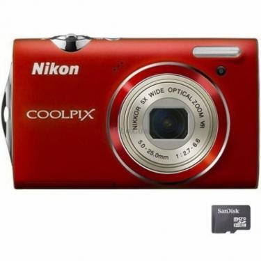 Цифровий фотоапарат Coolpix S5100 red Nikon (VMA642E1) - фото 1