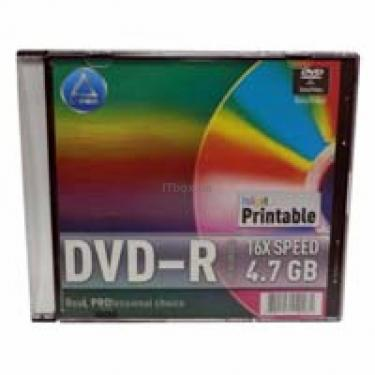 Диск DVD L-PRO 4.7Gb 16x Printable Slim box 10шт (240281) - фото 1
