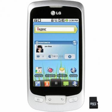 Мобильный телефон P500 (Optimus One) Silver LG (P500 SV) - фото 1