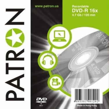 Диск DVD PATRON 4.7Gb 16x SLIM box 10шт (INS-D024) - фото 1