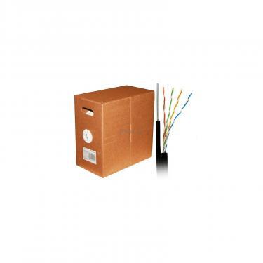 Кабель мережевий Atcom UTP 305м cat.5e Standart CCA, для внешней прокладки с тросом (10700) - фото 2