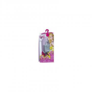 Аксессуар к кукле Barbie Серебристая сумка Гламур Фото 1