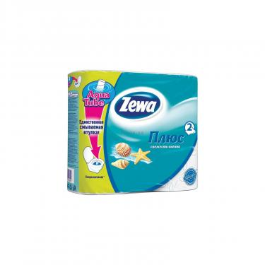 Туалетная бумага Zewa Plus 2-слойная Cвежесть океана Голубая 4 шт. Фото