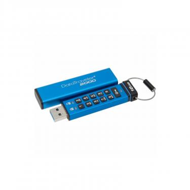 USB флеш накопитель Kingston 64GB DT 2000 Metal Security USB 3.0 (DT2000/64GB) - фото 1