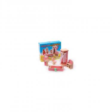 Игровой набор Мир деревянных игрушек Мебель для кукол Ванная комната Фото 1