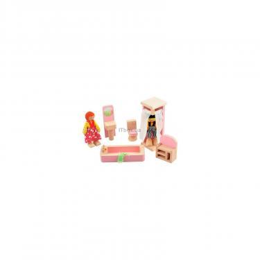Игровой набор Мир деревянных игрушек Мебель для кукол Ванная комната Фото