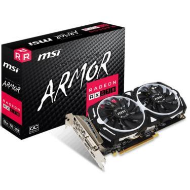 Видеокарта MSI Radeon RX 570 8192Mb ARMOR OC (RX 570 ARMOR 8G OC) - фото 1