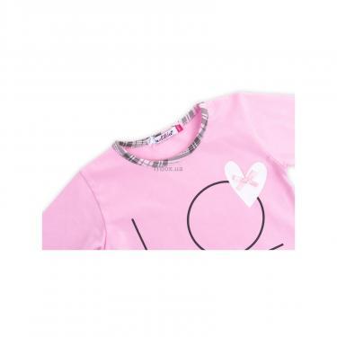 """Пижама Matilda с сердечками """"Love"""" (7585-104G-pink) - фото 6"""