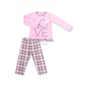 """Пижама Matilda с сердечками """"Love"""" (7585-104G-pink) - фото 1"""