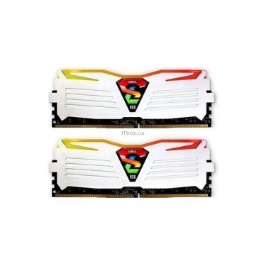 Модуль пам'яті для комп'ютера DDR4 16GB (2x8GB) 3200 MHz Super Luce White RGB LED GEIL (GLWC416GB3200C16ADC) - фото 1