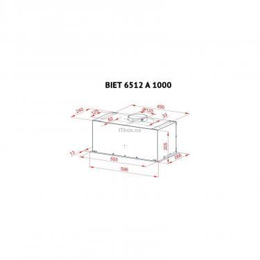 Вытяжка кухонная PERFELLI BIET 6512 A 1000 DARK IV LED - фото 7