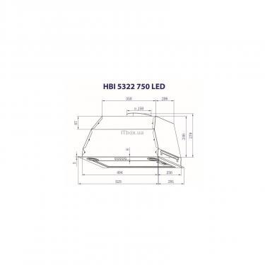 Вытяжка кухонная MINOLA HBI 5322 WH 750 LED - фото 3