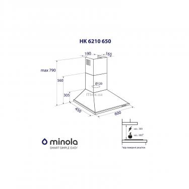 Вытяжка кухонная Minola HK 6210 BR 650 Фото 6