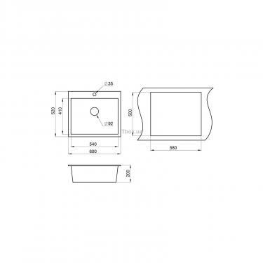 Мойка кухонная Minola MPG 1060-60 Эспрессо Фото 1