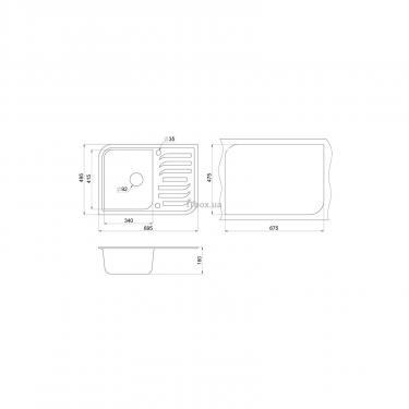 Мойка кухонная Minola MPG 1145-70 Антик Фото 1