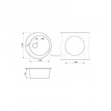 Мойка кухонная Minola MRG 1040-48 Базальт Фото 1
