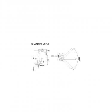 Кухонний змішувач BLANCO MIDA ХРОМ (517742) - фото 2