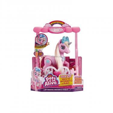 Интерактивная игрушка Pets & Robo Alive Pets Alive Розовый единорог в домике Фото 5