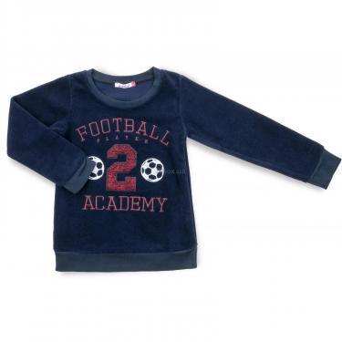 """Пижама Matilda флисовая """"FOOTBALL ACADEMY"""" (7536-3-116B-blue) - фото 2"""
