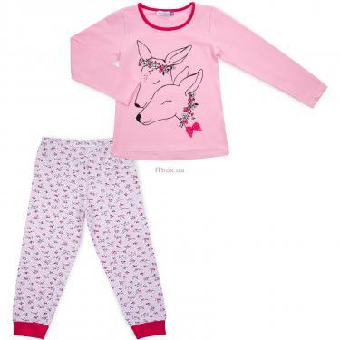 Пижама Matilda с оленями (10817-3-128G-pink) - фото 1