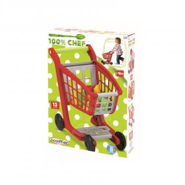 Игровой набор Ecoiffier Тележка для супермаркета с продуктами Фото 1