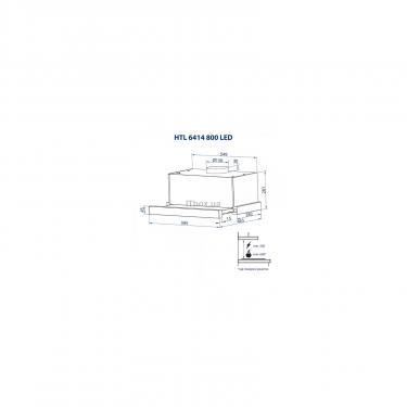 Вытяжка кухонная Minola HTL 6414 BL 800 LED Фото 11
