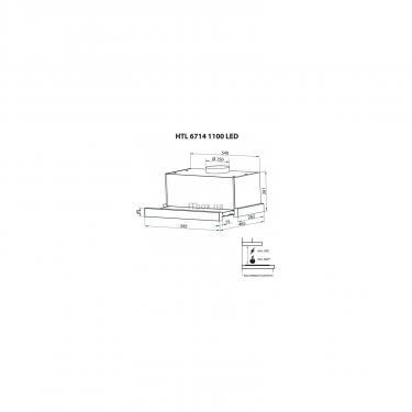 Вытяжка кухонная Minola HTL 6714 WH 1100 LED Фото 9