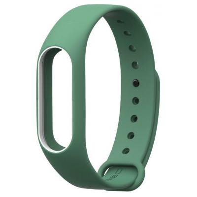 Ремешок для фитнес браслета Xiaomi Mi Band 2 green-white (297446)