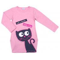 Платье Breeze с веселым котиком (9474-104G-pink)