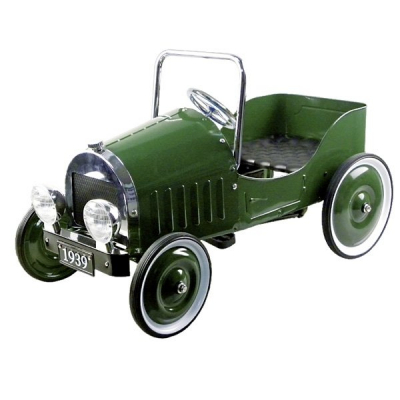Веломобиль Goki Ретроавтомобиль 1939 зеленый (14073)